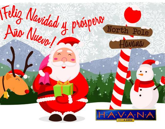 Kom gezellig bij Havana eten en drinken met de feestdagen!?